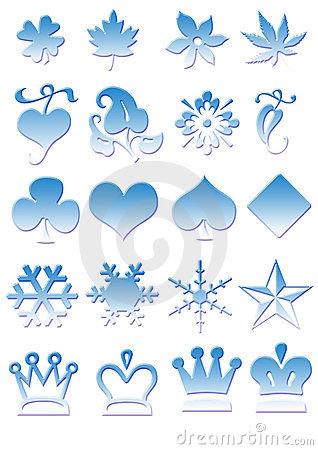 Free Icons In Blue-ice-optik Royalty Free Stock Photos - 3132578