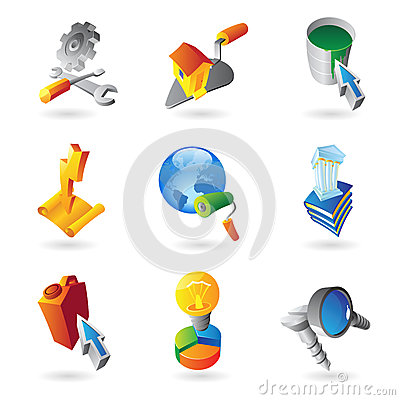 Icons For Industry Stock Image - Image: 25530381