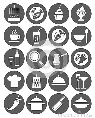 Free Icons Kitchen, Restaurant, Cafe, Food, Drinks, Utensils, Monochrome, Flat. Stock Images - 55913274