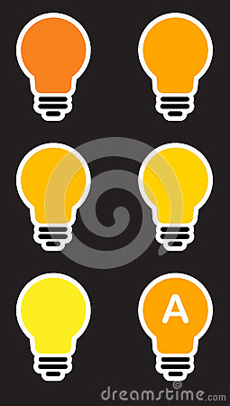 Icons light bulb