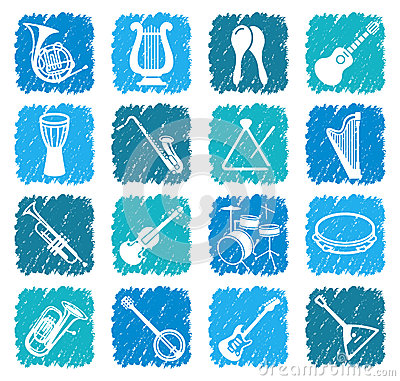 Icons of musical instruments