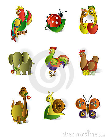 Free Icons Of Animals Royalty Free Stock Image - 21495486
