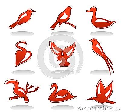 Free Icons Of Birds Stock Image - 17930021
