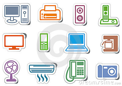 Icons of office equipment