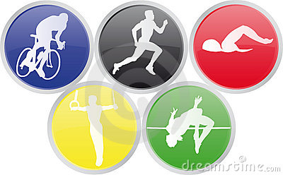 Icons of Olympics sports