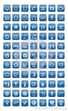Icons and pictograms set