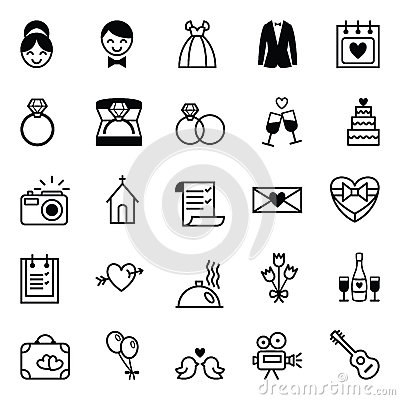 Free Icons Preparation For The Wedding Stock Photography - 53005932