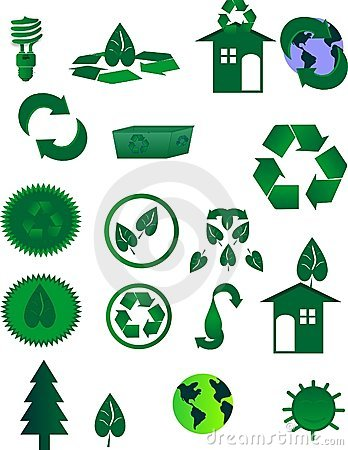 Icons for Recycling in the world
