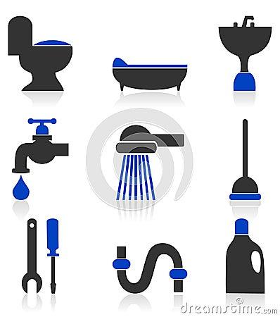 Icons sanitary technicians