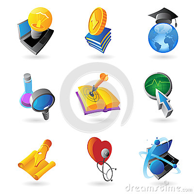 Icons For Science And Education Stock Images - Image: 30863724