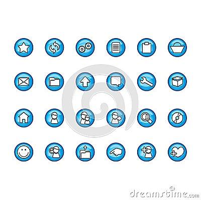 Free Icons Set Stock Photography - 103332
