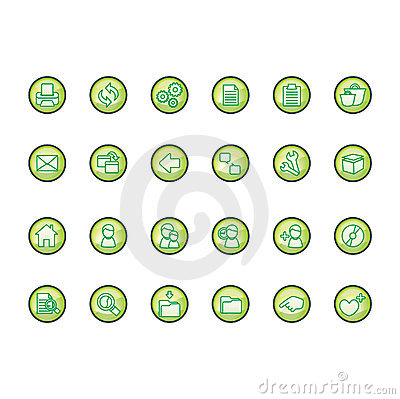 Free Icons Set Stock Images - 103334