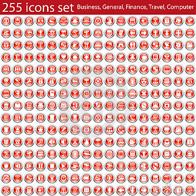 Free Icons Set Royalty Free Stock Photography - 12577407