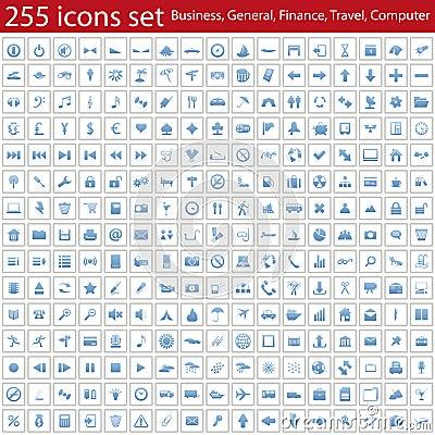 Free Icons Set Stock Image - 12595351