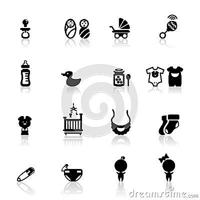 Icons set Babies