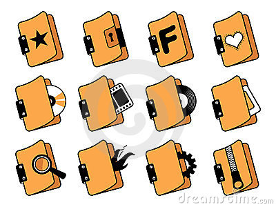Icons Set For Desktop. Stock Photography - Image: 23451692