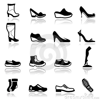 Icons set Footwear