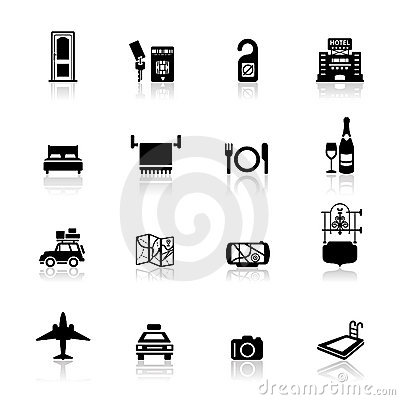Icons set Hotel and travel