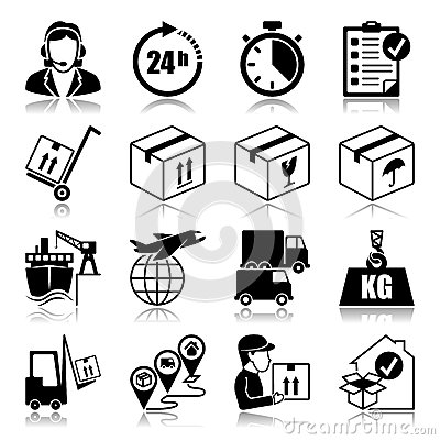 Free Icons Set: Logistics Stock Photo - 31877560