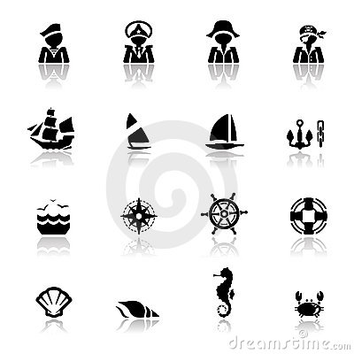 Icons set Nautical