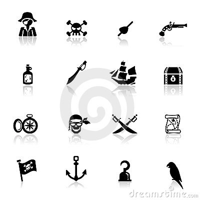 Icons set pirates