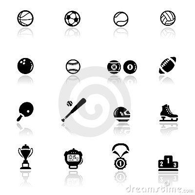 Icons set sports and games