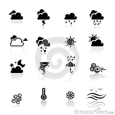 Icons set Weather