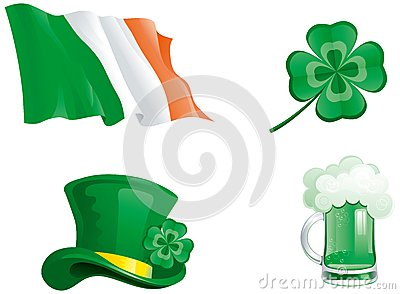 icons for St. Patricks Day