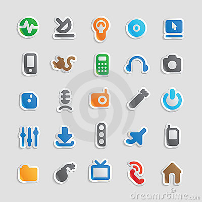 Icons for technology and industry