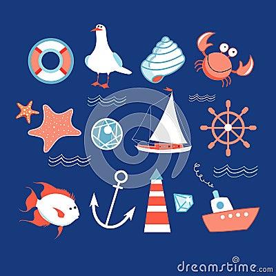 Icons to the marine theme