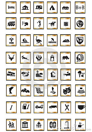 Free Icons Tourist Royalty Free Stock Images - 4153339