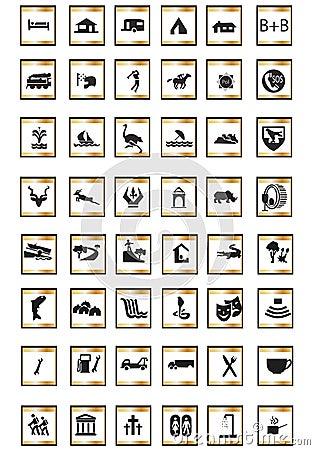 Icons tourist
