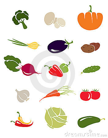 Free Icons -- Vegetables Royalty Free Stock Image - 16604146