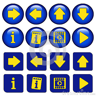 Icons for virtual tour, navigation buttons