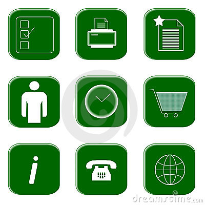 Icons for website and internet
