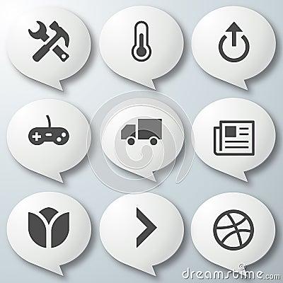 9 Icons White