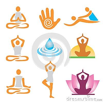 Icons yoga spa massage