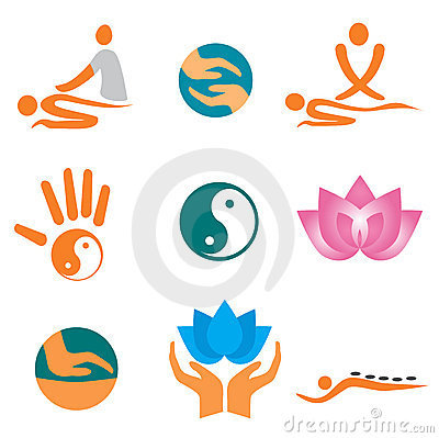 Free Icons_of_massage Royalty Free Stock Images - 18600599