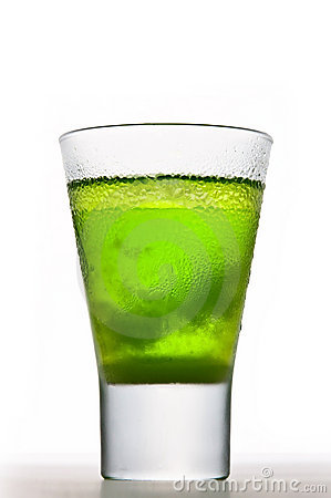Free Icy Absinthe Drink Stock Photography - 16385412