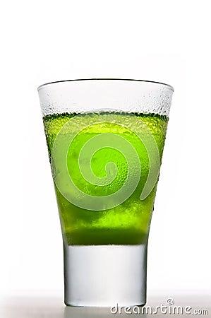 Icy Absinthe drink
