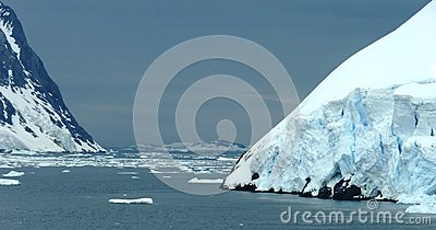 Icy landscape in Antarctica