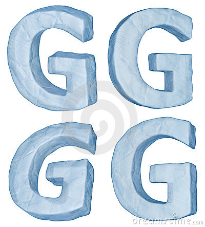 Icy letter G.