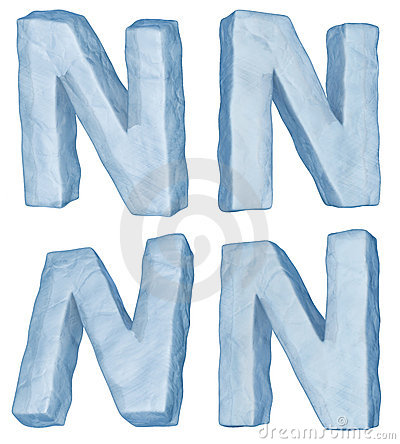 Icy letter N.