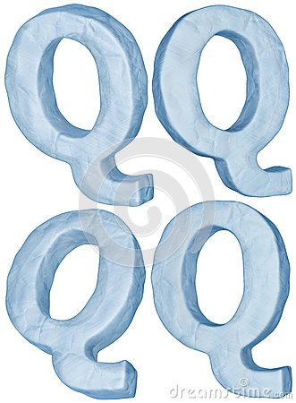 Icy letter Q.