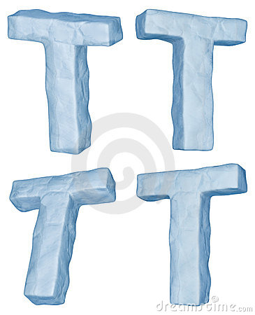 Icy letter T.