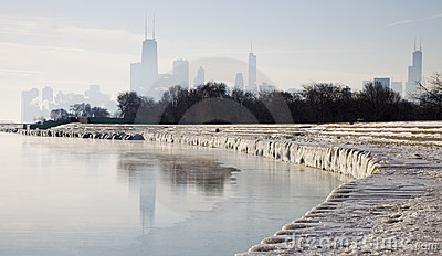Icy morning in Chicago
