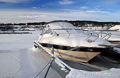 Icy motorboat