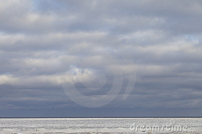 Icy sea.