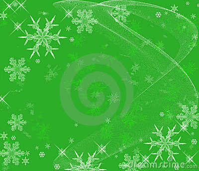 Icy Snowflakes Background