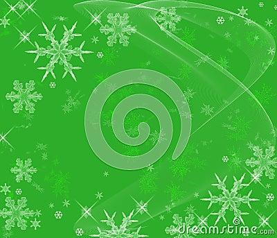 Icy Snowflakes Background